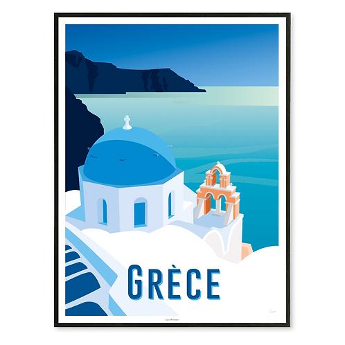 Affiche Grèce, Les Cyclades - Les Affichistes