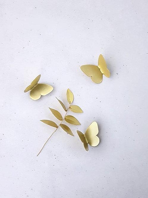 Trio mini papillons dorées Delphine Plisson