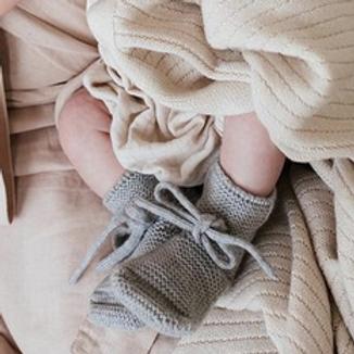 Chaussons gris chiné - Hvid