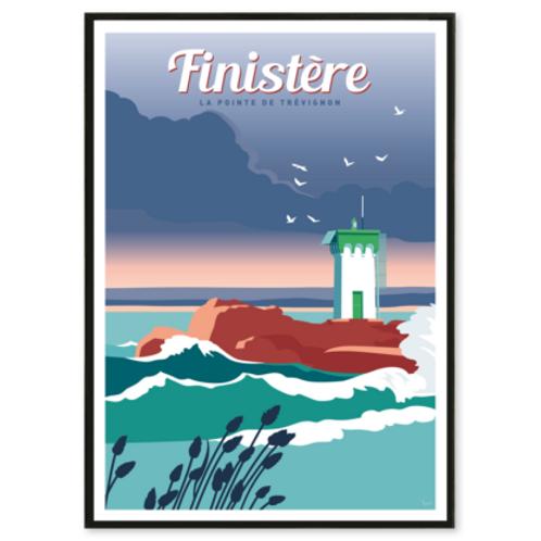Affiche Finistère, La Pointe de Trévignon - Les Affichistes