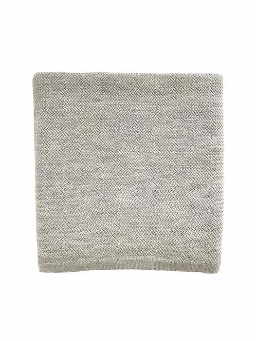 Couverture Coco gris chiné - Hvid