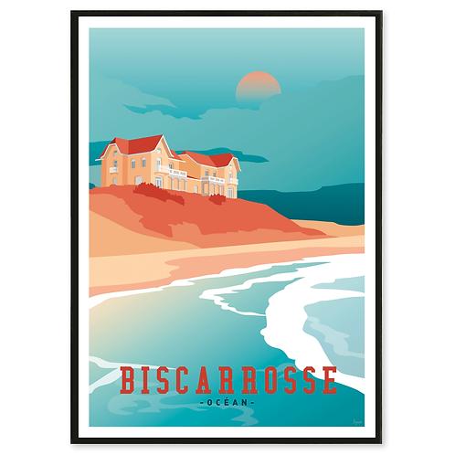 Affiche Biscarrosse - Les Affichistes