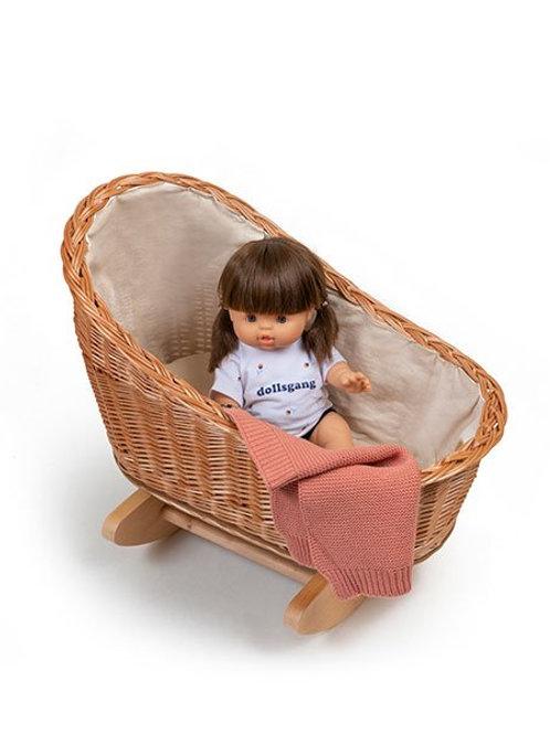 Berceau Gaston à bascule avec oreiller et couverture - Minikane