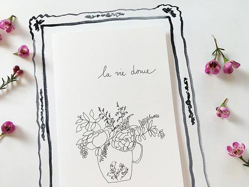 Carte postale 'La vie douce' - Papillonnage