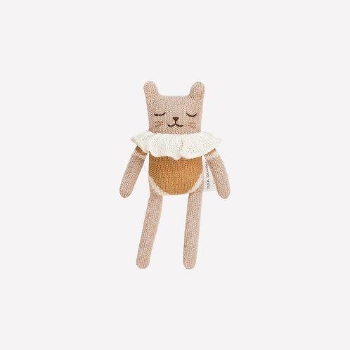 Doudou chaton   maillot ocre - Main Sauvage