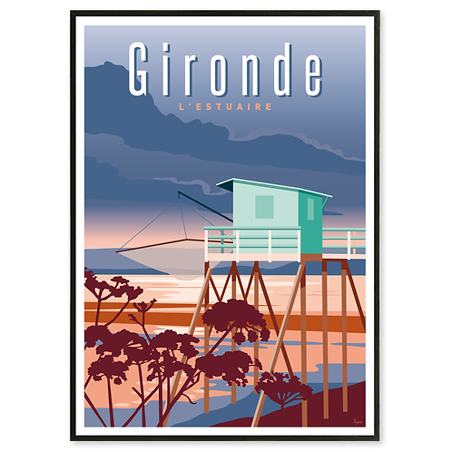 Affiche Gironde, L'Estuaire - Les Affichistes
