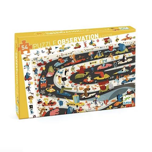 Puzzle d'observation rallye automobile - Djeco