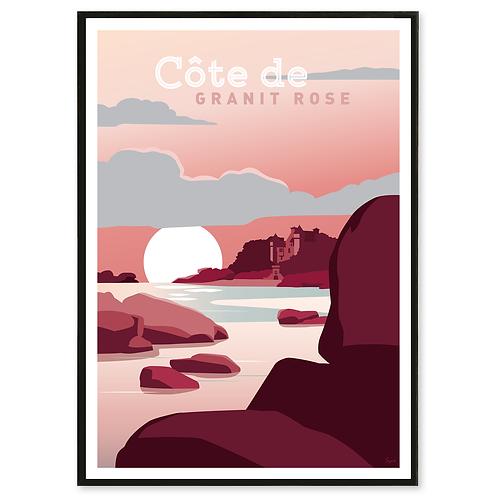 Affiche Côte de Granit Rose - Les Affichistes