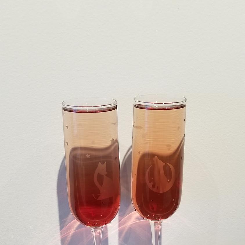 Custom Champagne Flute Glass Etching