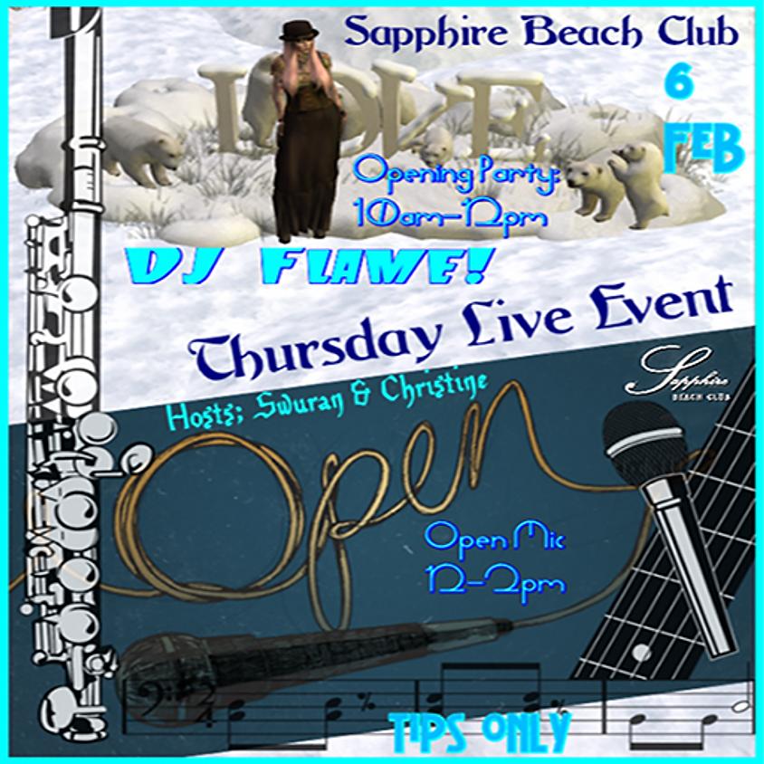 THURSDAY PARTY /DJ FLAME & OPEN MIC