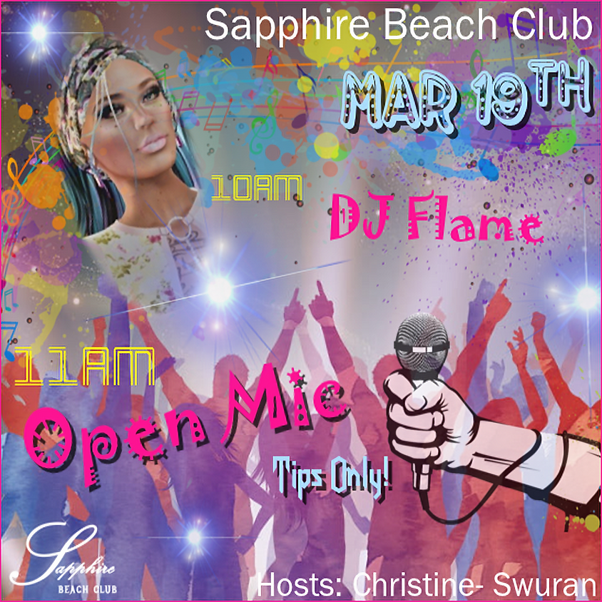 THURSDAY / DJ ARISHA FLAME AND OPEN MIC