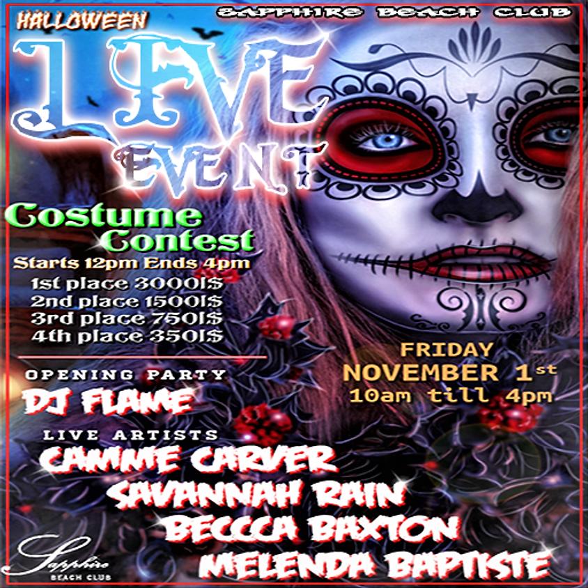 FRIDAY LIVE EVENTS & PARTY & COSTUME CONTEST / CAMME CARVER, SAVANNAH RAIN, BECCCA BAXTON, MELENDA BAPTISTE & DJ FLAME