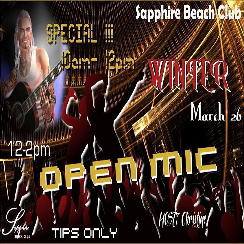 THURSDAY LIVE EVENTS / WINTER 2 HOUR SPECIAL SET AND THEN OPEN MIC