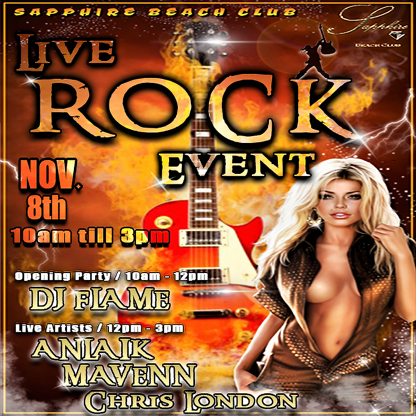 FRIDAY LIVE ROCK EVENT & PARTY /ANLAIK & MAVENN & CHRIS LONDON & DJ FLAME