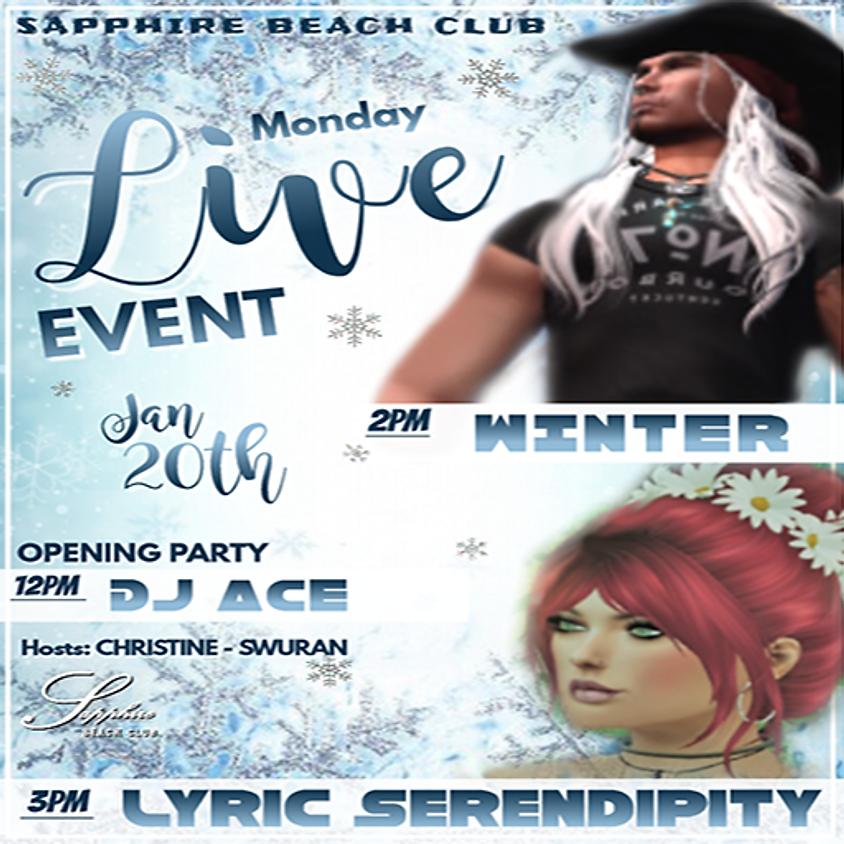 MONDAY EVENTS & PARTY / WINTER & LYRIC & DJ ACE