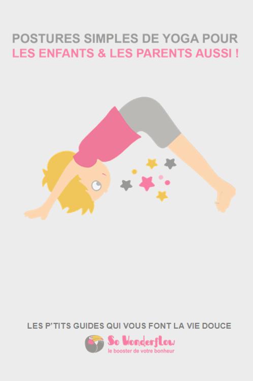 Postures simples de yoga pour enfants (& les parents)