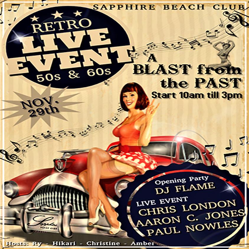 FRIDAY LIVE EVENTS & PARTY / CHRIS LONDON & AARON CABBOTT JONES & PAUL NOWLES & DJ FLAME