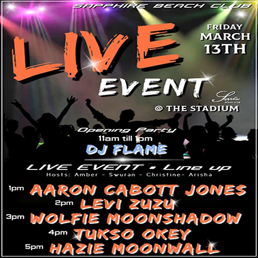 FRIDAY LIVE EVENTS & PARTY / AARON & LEVI & WOLFIE & TUSKO & HAZIE & DJ FLAME