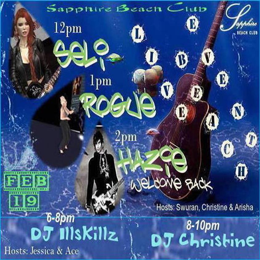 WEDNESDAY LIVE EVENTS & PARTY/ SELI BLACKMORE, ROGUE GALAXY, DJ SKILLZ & SJ CHRISTINE
