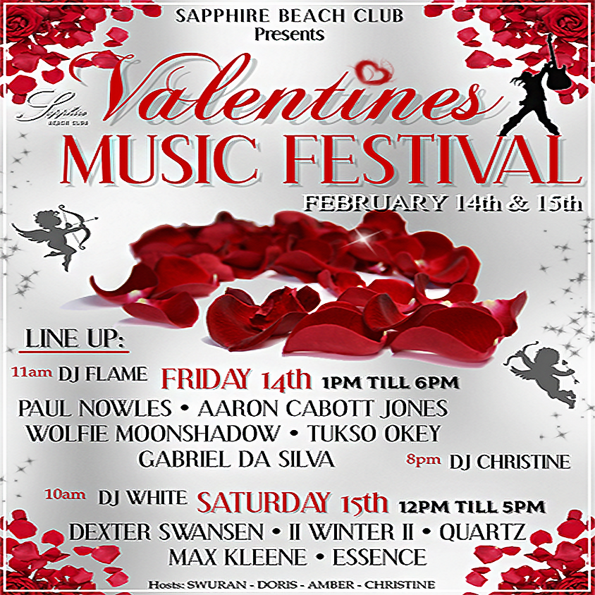SATURDAY Valentines MUSIC FESTIVAL/ DEXTER & WINTER & QUARTZ & MAX & ESSENCE & DJ WHITE