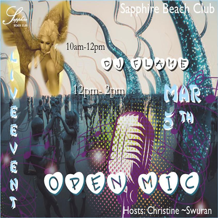 THURSDAY OPEN MIC AND DJ ARISHA FLAME