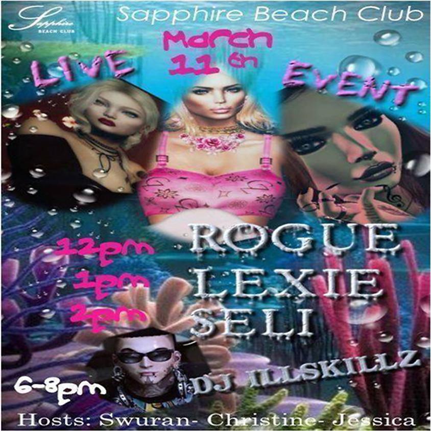 WEDNESDAY LIVE EVENTS AND PARTY/ RHESA & LEXIE LUAN & SELI BLACKMORE & DJILLSKILLZ