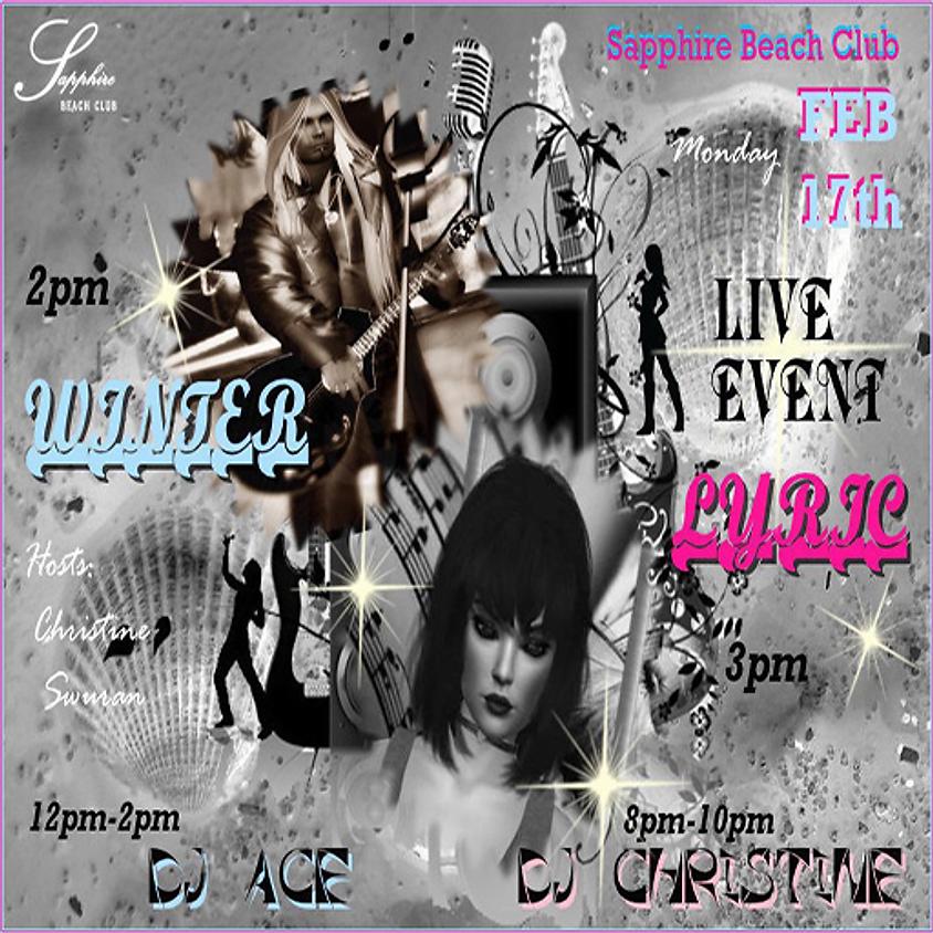 MONDAY LIVE EVENTS & PARTY / DJ ACE & WINTER & LYRIC & DJ CHRISTINE