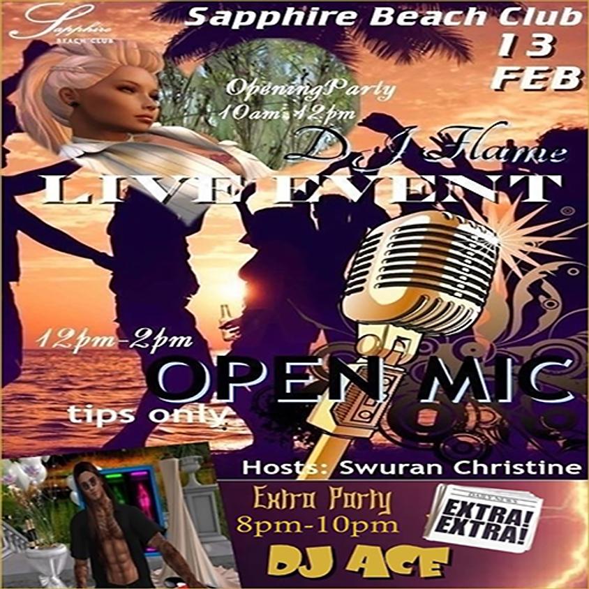 THURSDAY PARTY/ DJ ARISHA FLAME AND OPEN MIC/JAM AND DJ ACE