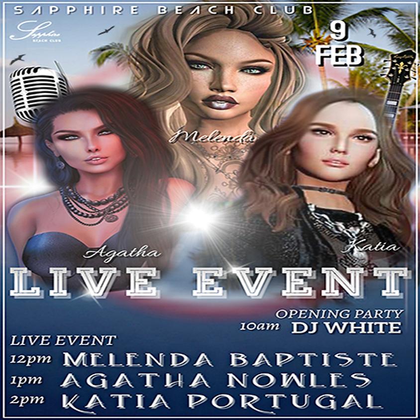 SUNDAY LIVE EVENT / MELENDA & AGATHA & KATIA & DJ WALT WHITE
