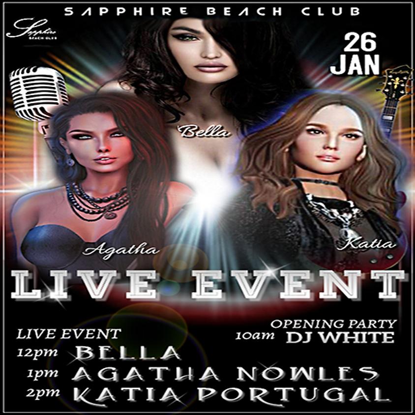 SUNDAY LIVE EVENTS/ BELLA & AGATHA & KATIA
