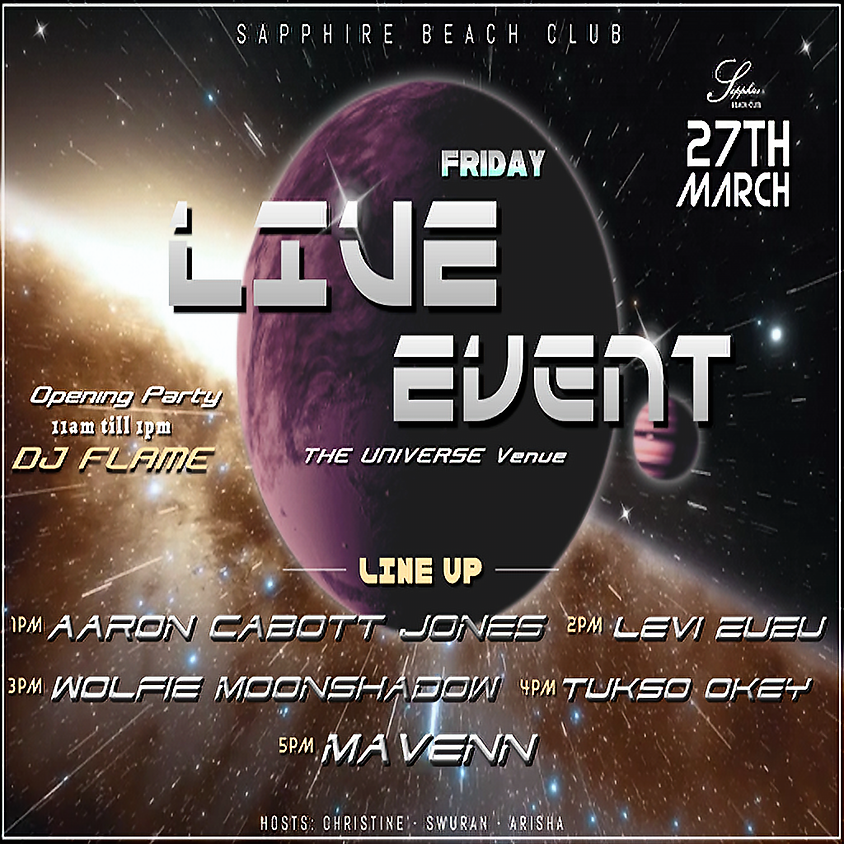 FRIDAY LIVE EVENTS & PARTY /  AARON & LEVI & WOLFIE & TUSKO & MAVENN & DJ FLAME