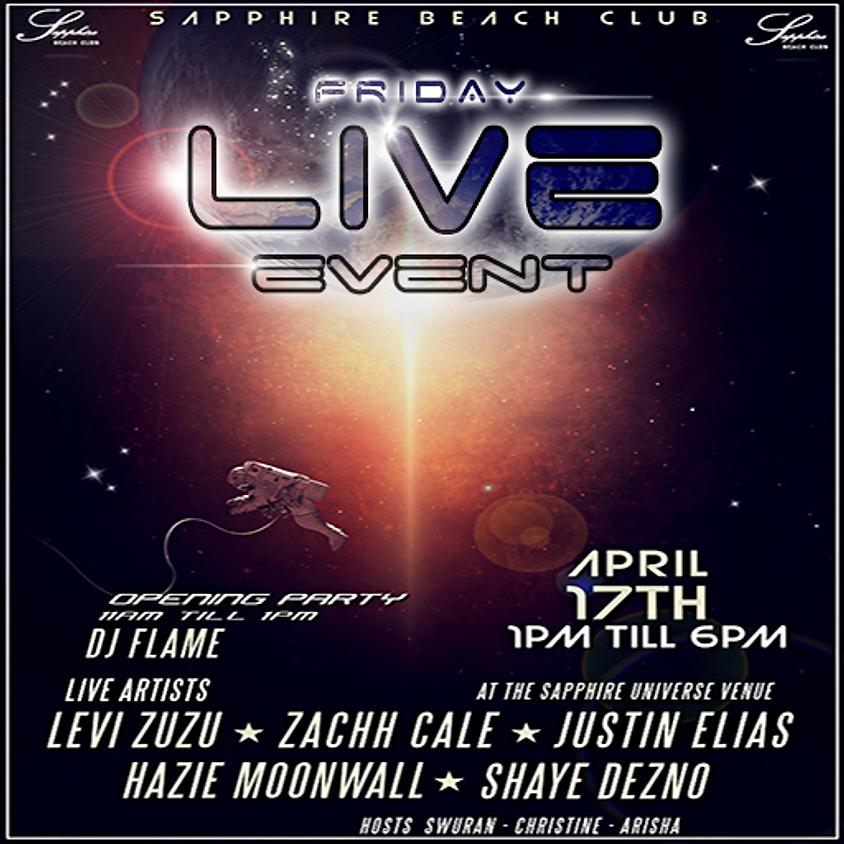 FRIDAY LIVE EVENTS / LEVI & ZACHH & JUSTIN & HAZY & SHAYE & DJ FLAME (1)