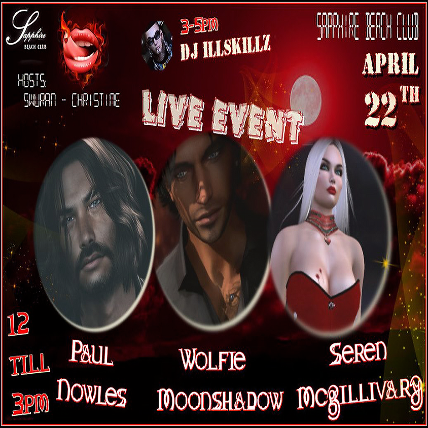 WEDNESDAY LIVE EVENTS AND PARTY/ PAUL NOWLES & WOLFIE & SEREN & DJ SKILLZ (1)