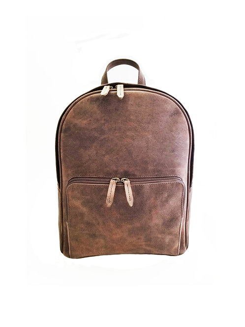 Leather oil distress backpack
