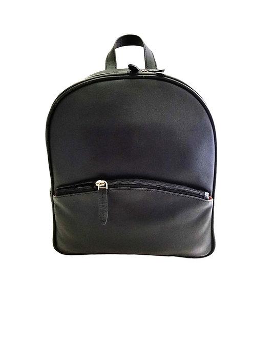 Leather grain cowhide backpack