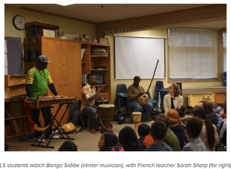 Musician Bongo Sidibe Serenades the Lower School