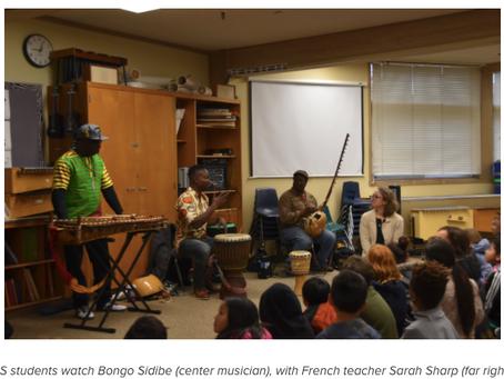 Musician Bongo Sidibe Serenades the Lower School