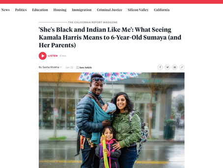 'She's Black and Indian Like Me': What Seeing Kamala Harris Means to 6-Year-Old Sumaya (and parents)