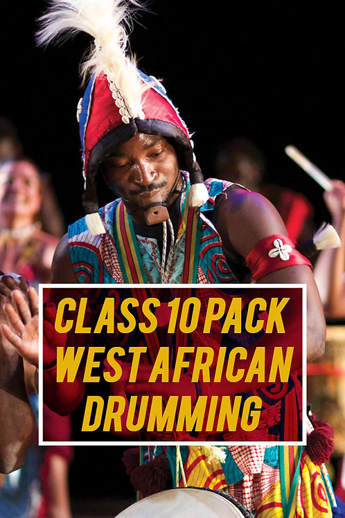 Class 10 Pack: West African Drumming