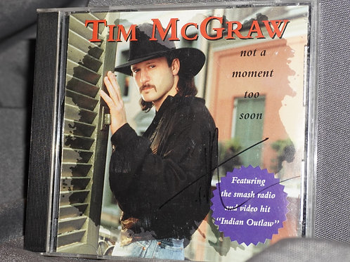 Autographed Tim McGraw CD