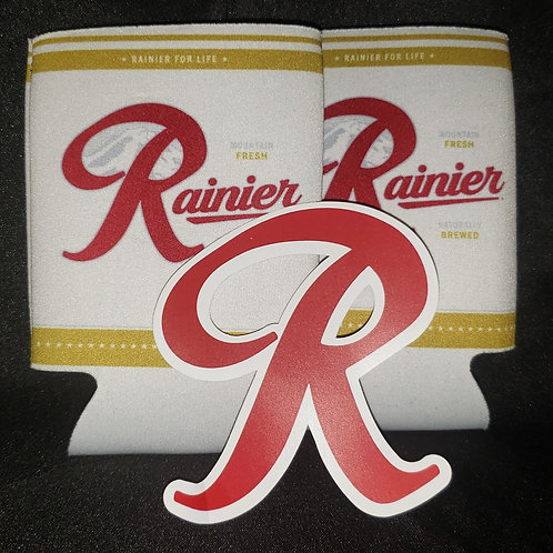 2 Rainier Koozies & Sticker