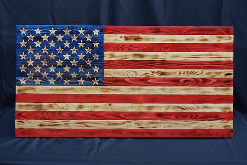 Wooden USA Flag