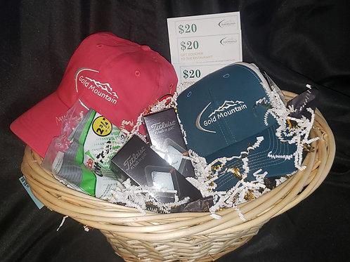 Gold Mountain Golf Gift Basket