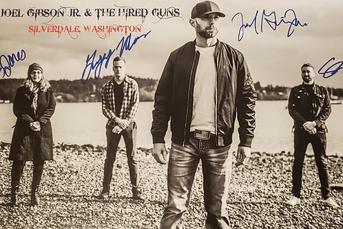 Autographed Poster - Joel Gibson Jr. & The Hired Guns