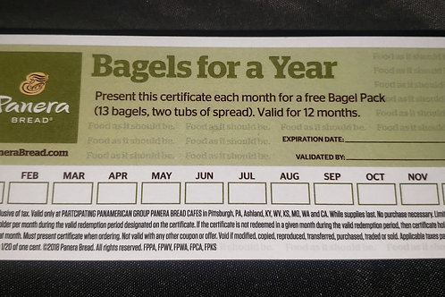 Bagels for a year