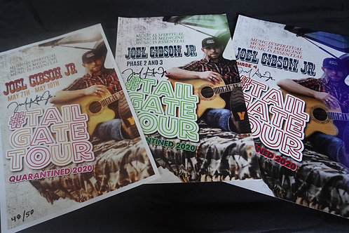 All 3 Tailgate Tour Posters