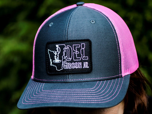 Hat (charcoal/pink)