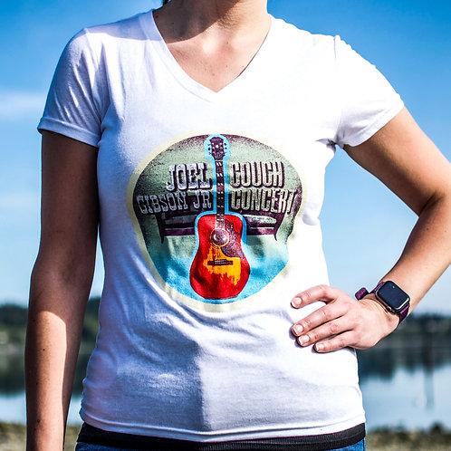 V-Neck Couch Concert Shirt & Sticker