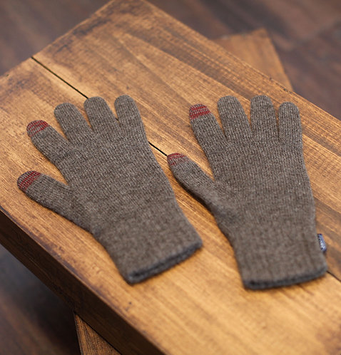 Touchscreen 100% Cashmere Gloves Brown