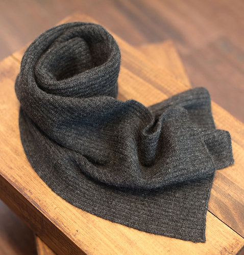 Thick & Warm 100% Cashmere Winter Scarf Grey